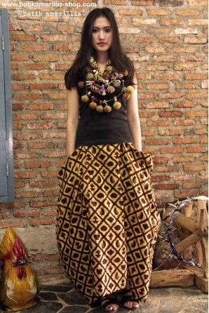 batik amarillis's bohemian summer skirt