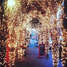 christmas lights village street - Google Search