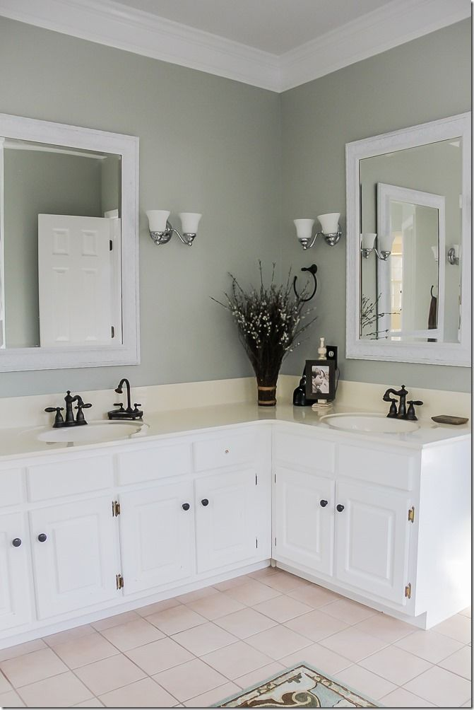 Master Bathroom Makeover  so walls got a fresh coat of Restoration Hardware Silver  Sage paint  I know I ve used this color in like percent of my home. Best 25  Silver sage paint ideas on Pinterest   Gray color  Silver