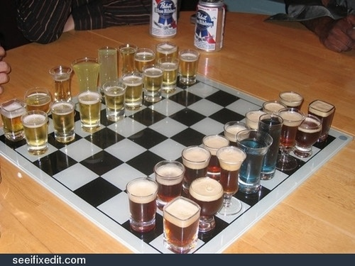 Chess, the drinking game
