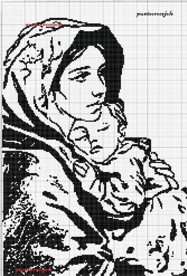 Madonna col bambino - Monocolore