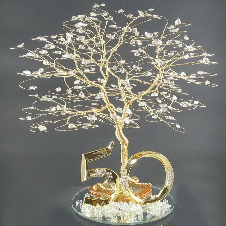 50th Anniversary Cake Topper Or Centerpiece