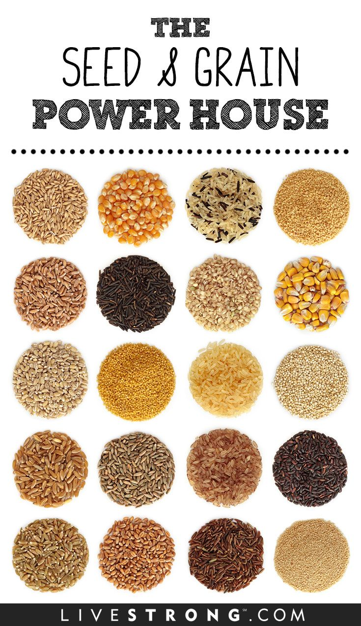 13 Powerful Grains and Seeds Healthy, unhealthy food