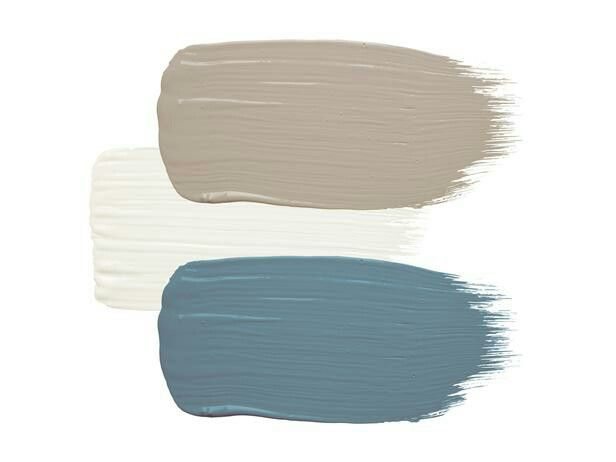 Color scheme: Dunn Edwards Brick: Riverbed Trim: Swiss Coffee Door: Taliesen Blue