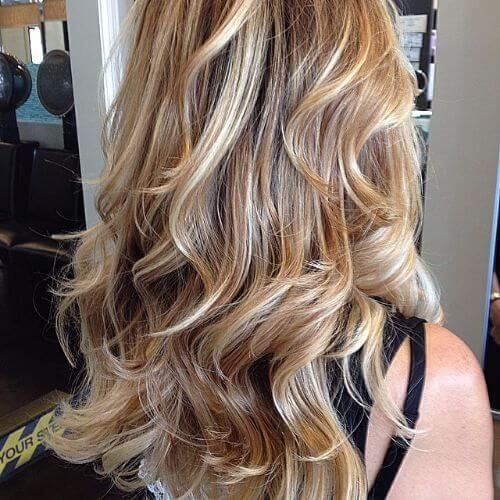 Caramel Highlights On Dirty Blonde Hair