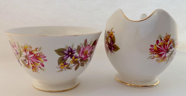 Vintage Sugar bowl and Creamer, Colclough, Bone China, Made in England, Vintage bone china, vintage serving set, sugar bowl and creamer by MarySoBritish on Etsy