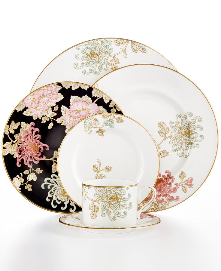 Marchesa by Lenox Dinnerware, Painted Camellia Collection - Fine China - Macy's Bridal and Wedding Registry