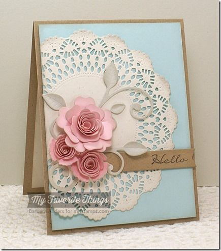 Grand Peaceful Wildflowers High Tea Party Doily Die