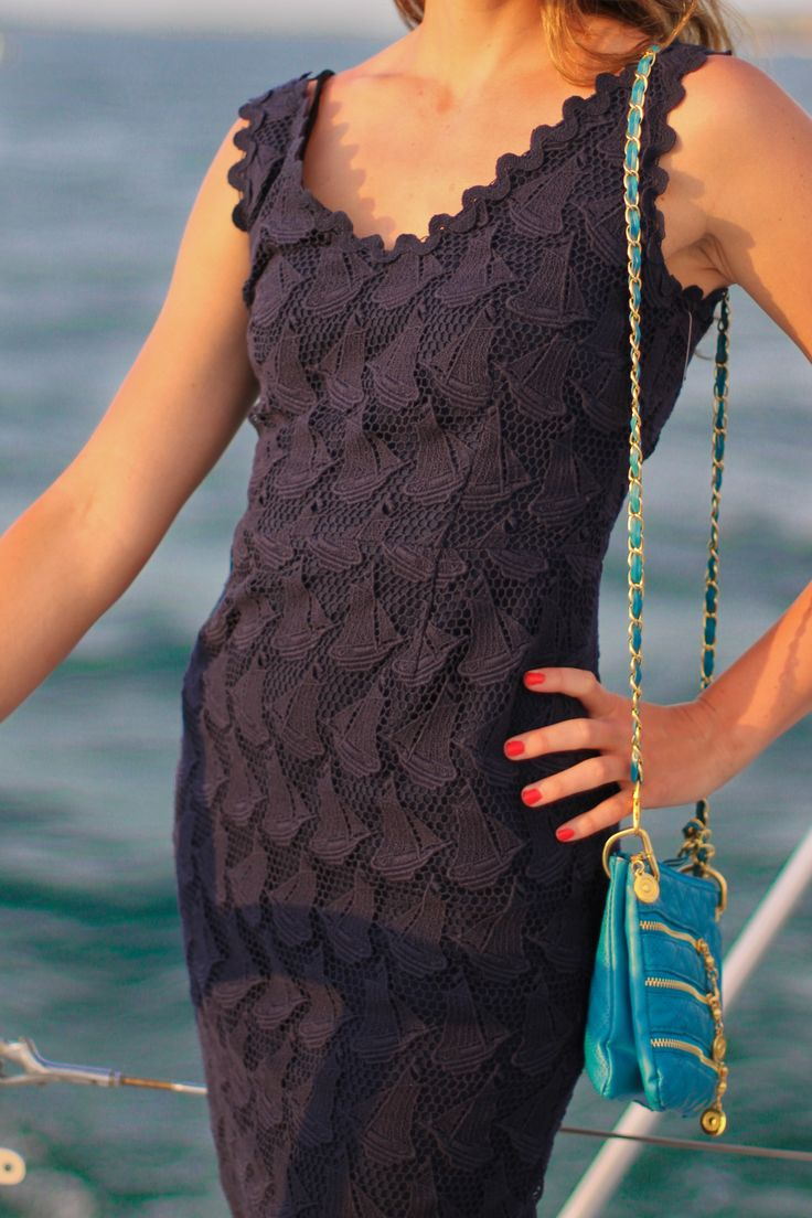 yachtys:    Ashley, Sailing with the Yachtys Crew in Martha's Vineyard.  Lilly Pulitzer dress from In the Pink, Edgartown