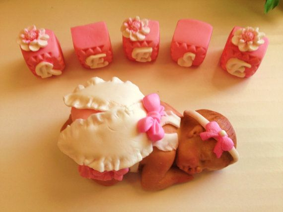 This Large Baby Girl is so cute. Baby Shower, Birthday, Baptism, Cake Topper, christening   $30.00 USD