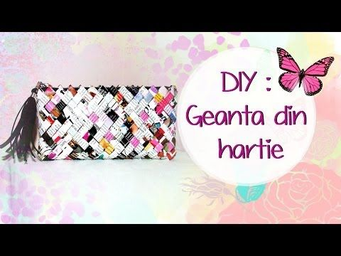 DIY: Geanta din hartie ( Tutorial in limba romana) HD - YouTube