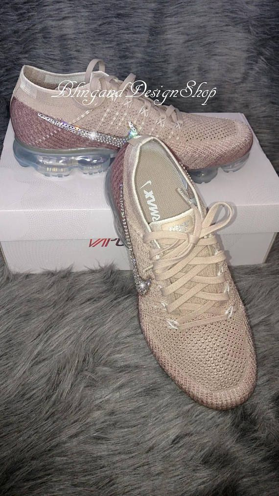 Swarovski Bling Nike VaporMax Flyknit Women s Nike Shoes Customized with  Swarovski Crystal Rhinestones 7d4f5ba5ac60
