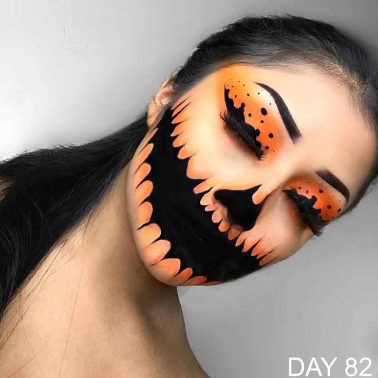 "Gefällt 5,193 Mal, 32 Kommentare - 100DaysOfMakeup (@100daysofmakeupchallenge) auf Instagram: ""DAY 82 Creepy Pumpkin By @mila__mua • • FOLLOW US:>>> @100daysofmakeupchallenge for more • USE…"""