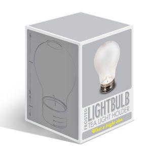 Lightbulb Tea Light Holder - Frosted: Image 1