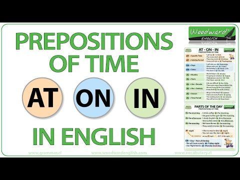 Prepositions of Time At On In English Grammar Notes - Preposiciones de Tiempo en inglés