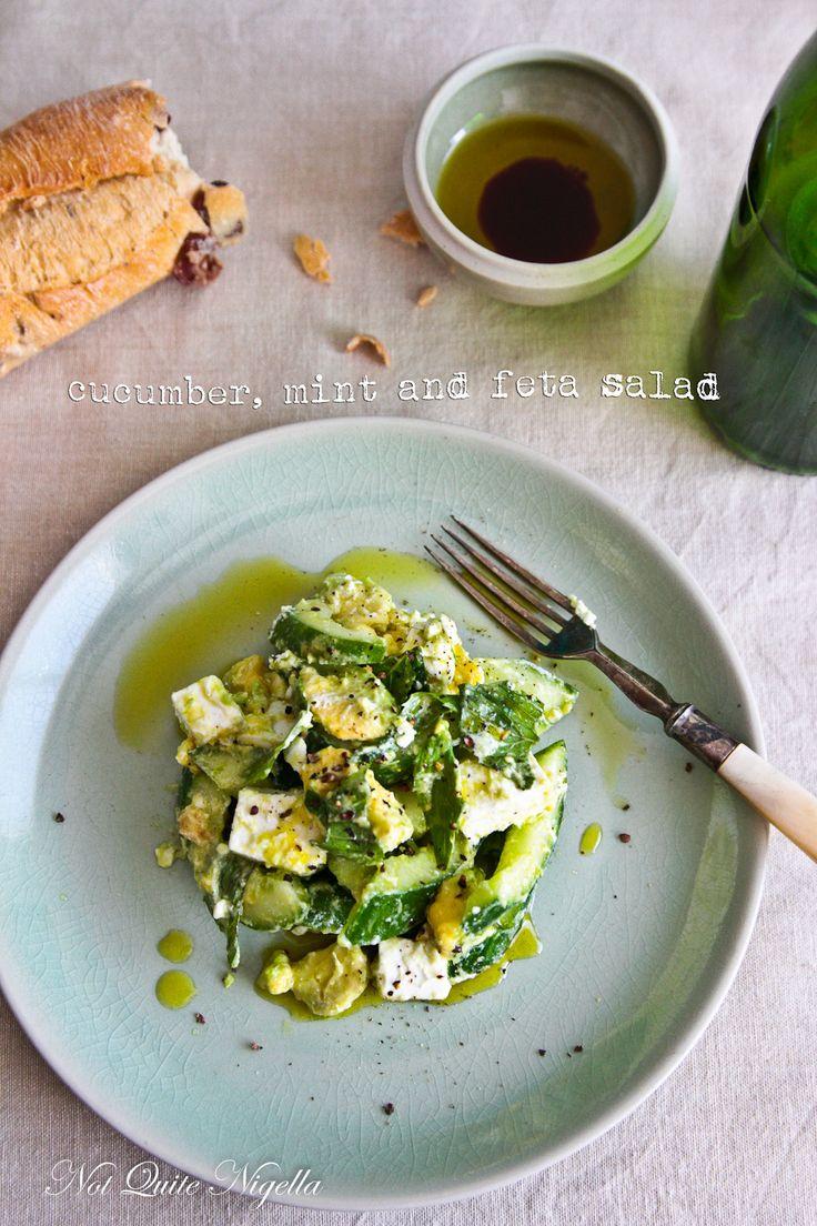 Cucumber Salad With Mint And Feta Recipe — Dishmaps