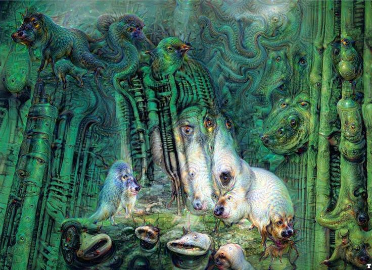 deep dream google giger...
