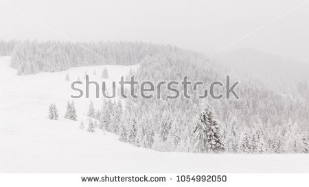 Snowy hills of Turbacz