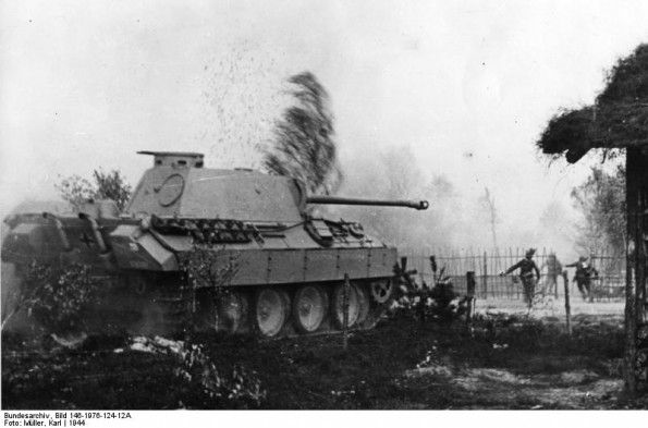 JUN 22 1944 Operation Bagration – the Red Army begins its revenge 'Fusilier' infantry and Panther tank in action somewhere in Russia,1944,