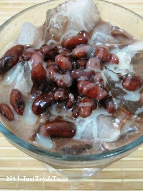Just Try & Taste: Membuat Es Kacang Merah Nan Legit