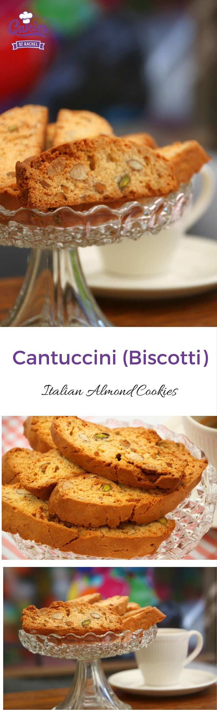 This Cantuccini or Italian Biscotti recipe is really easy. This version of the Italian cookie has a softer bite versus the original hard one