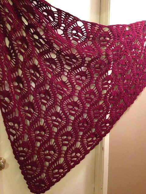 I'm making this right now!!! About 3/4 done!!  Ravelry: craftwich's All Souls Shawl