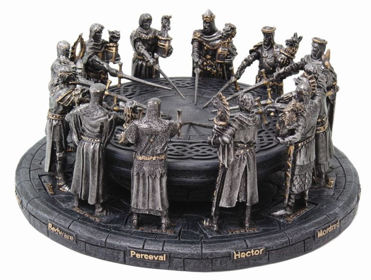 King Arthur Round Table Statue Medieval Knights Crusaders ...