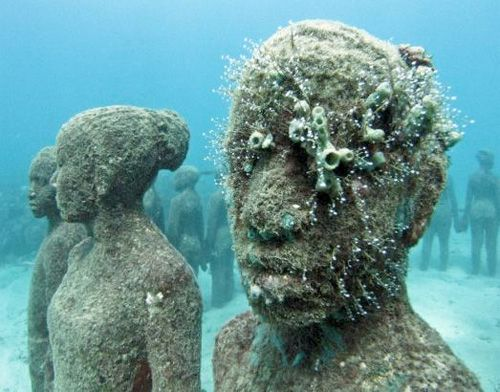 Superb Mexico   Jason De Caires Sculpture Under Water Gardens  They Are  Strengthened By The