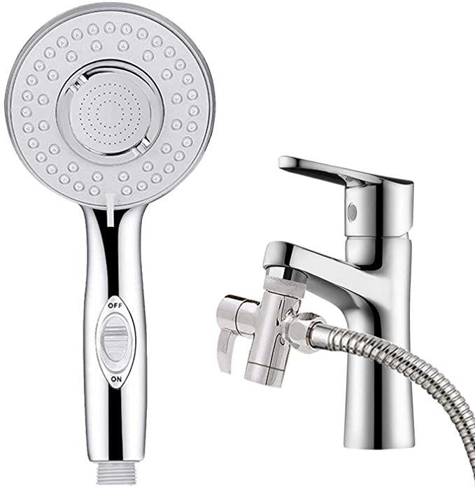 Klleyna Sink Faucet Hose Sprayer For Hair Washing Bathroom Sink Sprayer Rinser Attachement For Pet Dog Shower Bathtu Bathtub Faucet Sink Faucets Washing Hair