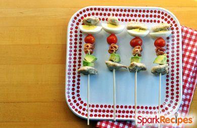Cobb Salad Party Kabobs via @SparkPeople