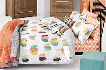 Cotton Rich Retro Tulip Bed Set