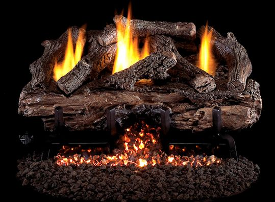 peterson real fyre 16 inch charred aged split gas logs vent free ansi certified btu burner kit manual safety pilot for natural gas