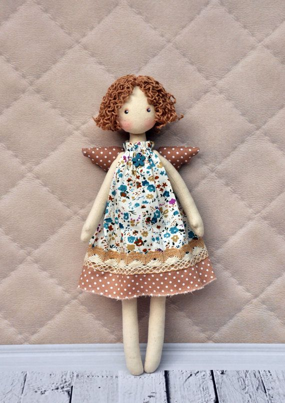 Textile doll Tilda doll Tilda angel by NilaDolss on Etsy