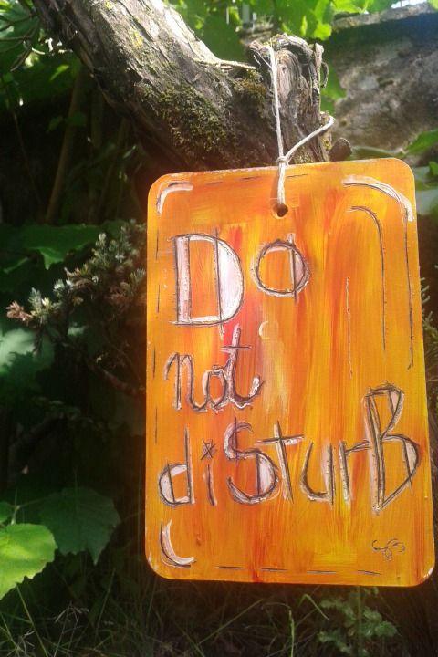 """quadretto """"do not disturb"""" : Accessori casa di barbara-santi"""