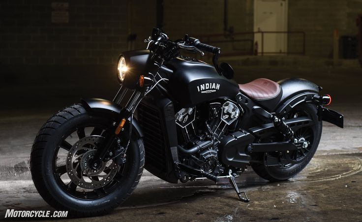 The 2018 Indian Scout Bobber is a minimalistic, low-slung, blacked-out version of its predecessor.