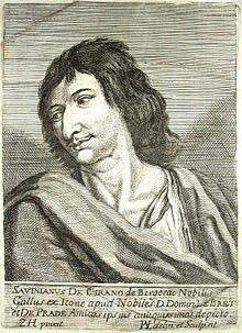 Cyrano de Bergerac nace el 6 de marzo de 1619, fue un poeta, dramaturgo y pensador francés, coetáneo de Boileau y de Molière. Como intelectual, fue considerado libertino, por su actitud irrespetuosa hacia las instituciones religiosas y seculares.