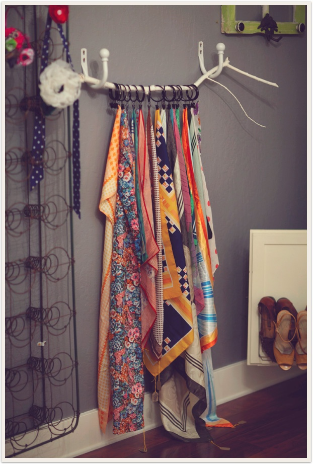 scarf display in the display ideas
