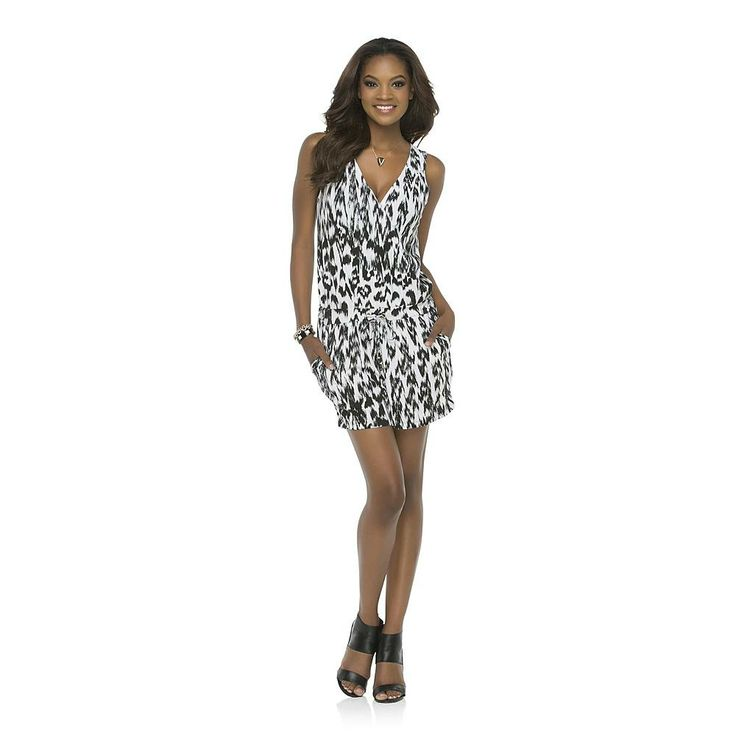 Shop the new Kardashian Kollection Women's Wrap Front Romper in white  animal print today at Sears