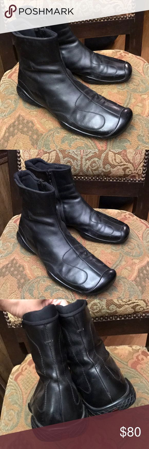 Prada mens ankle boots black 8.5 Prada boots in preowned good condition Prada Shoes Boots