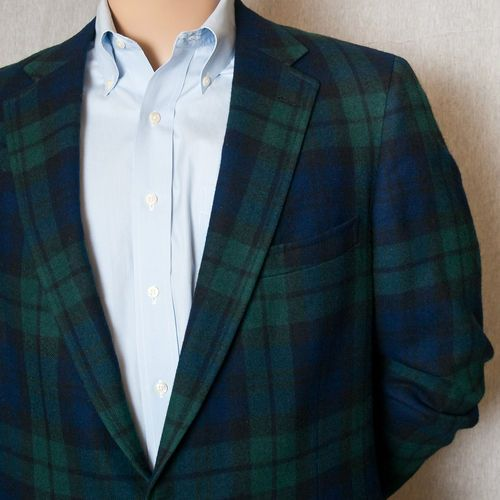 Ralph Lauren 43 Long Blackwatch Tartan Plaid Wool Sport