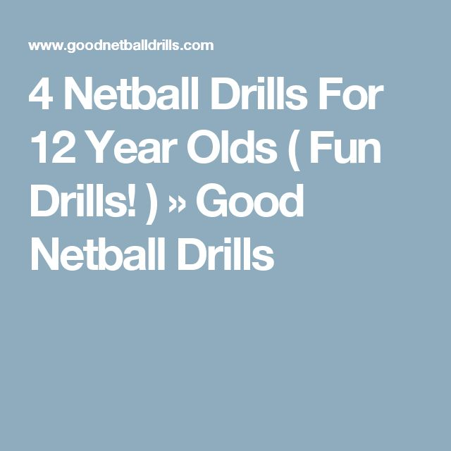 4 Netball Drills For 12 Year Olds ( Fun Drills! ) » Good Netball Drills