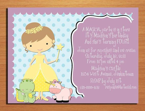 41 best Magical Unicorn dragon and fairy party images on – Dragon Birthday Invitations