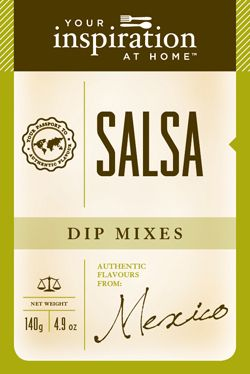 Salsa Dip Mix  Perfect for medium to hot spicy tomato salsas with that homemade flavour. Authentic Mexican zest for sauces, chicken and fish. Combine with freshly diced tomatoes.  To purchase go to www.sharonking.yourinspirationathome.com.au