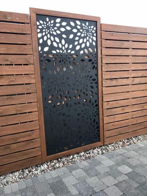 Flowerburst1 Metal Privacy Screen Decorative Panel Outdoor Garden Fence Art Decorative Screens Outdoor Garden Fence Art Decorative Fence Panels