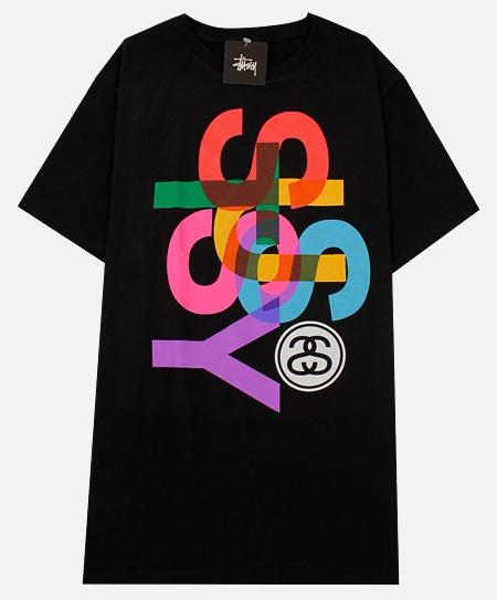 Stussy Overlap T-Shirt in Black