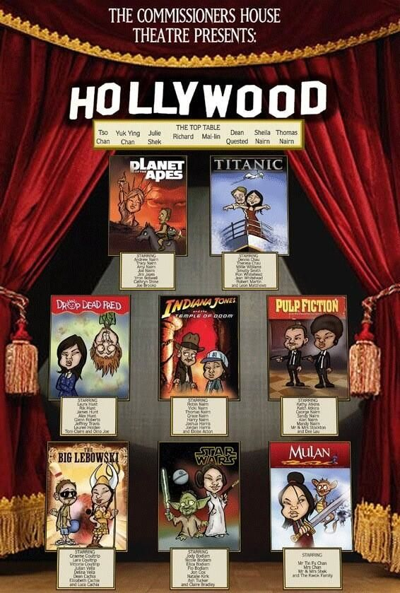An awesome movie themed wedding seating plan!
