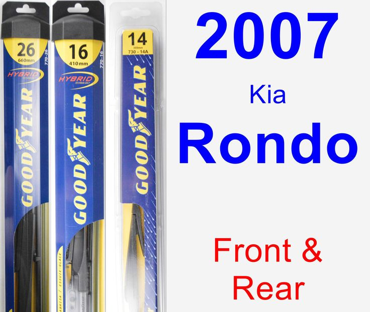 Front & Rear Wiper Blade Pack For 2007 Kia Rondo