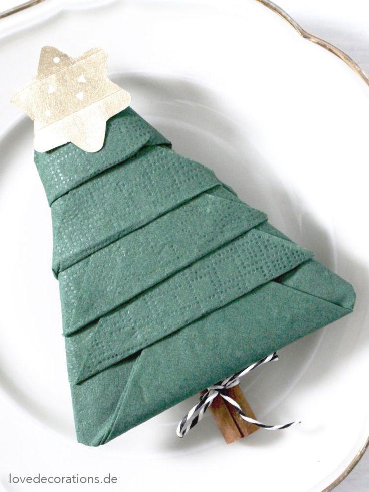 Best 25 servietten falten tannenbaum ideas on pinterest - Servietten tannenbaum falten ...
