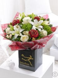 Large Christmas Rose and Lily Hand-tied
