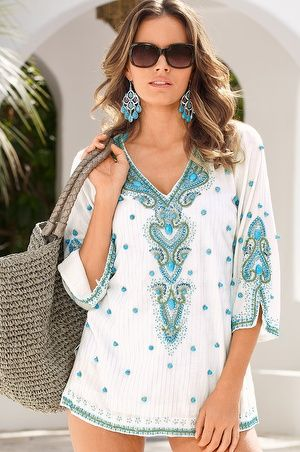 Proper Turquoise Baubles Tunic